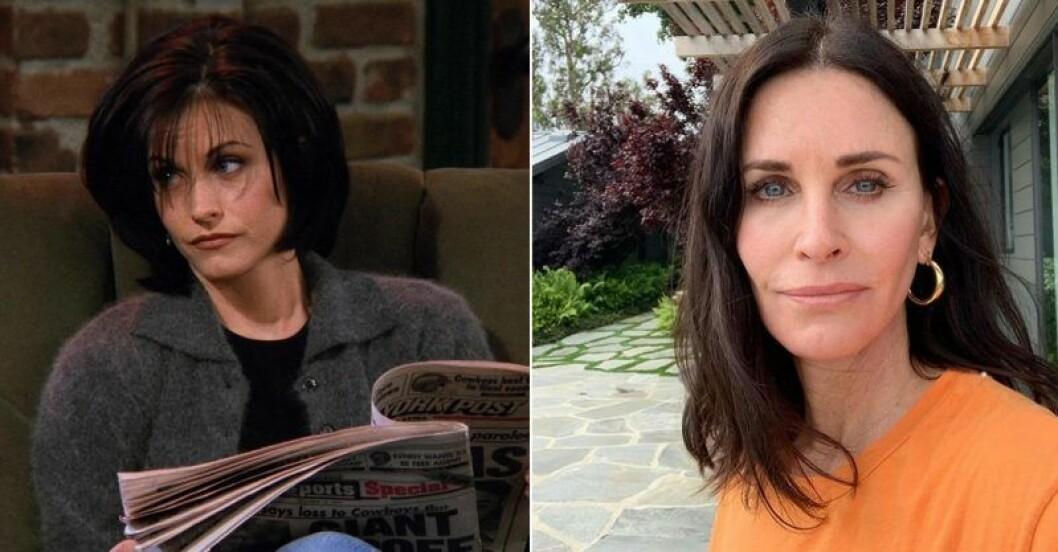 Monica Geller vs Courteney Cox i Vänner
