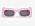 Oversizade, ljusrosa solglasögon i plast. Rektangulär form med rundade kanter. Solglasögon från Monki.