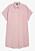 Ljusrosa skjortklänning med korta ärmar. Oversizad passform. Skjortklänning från Monki.