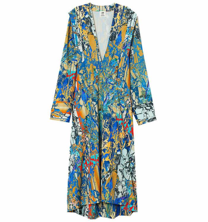 mönstrad klänning hm