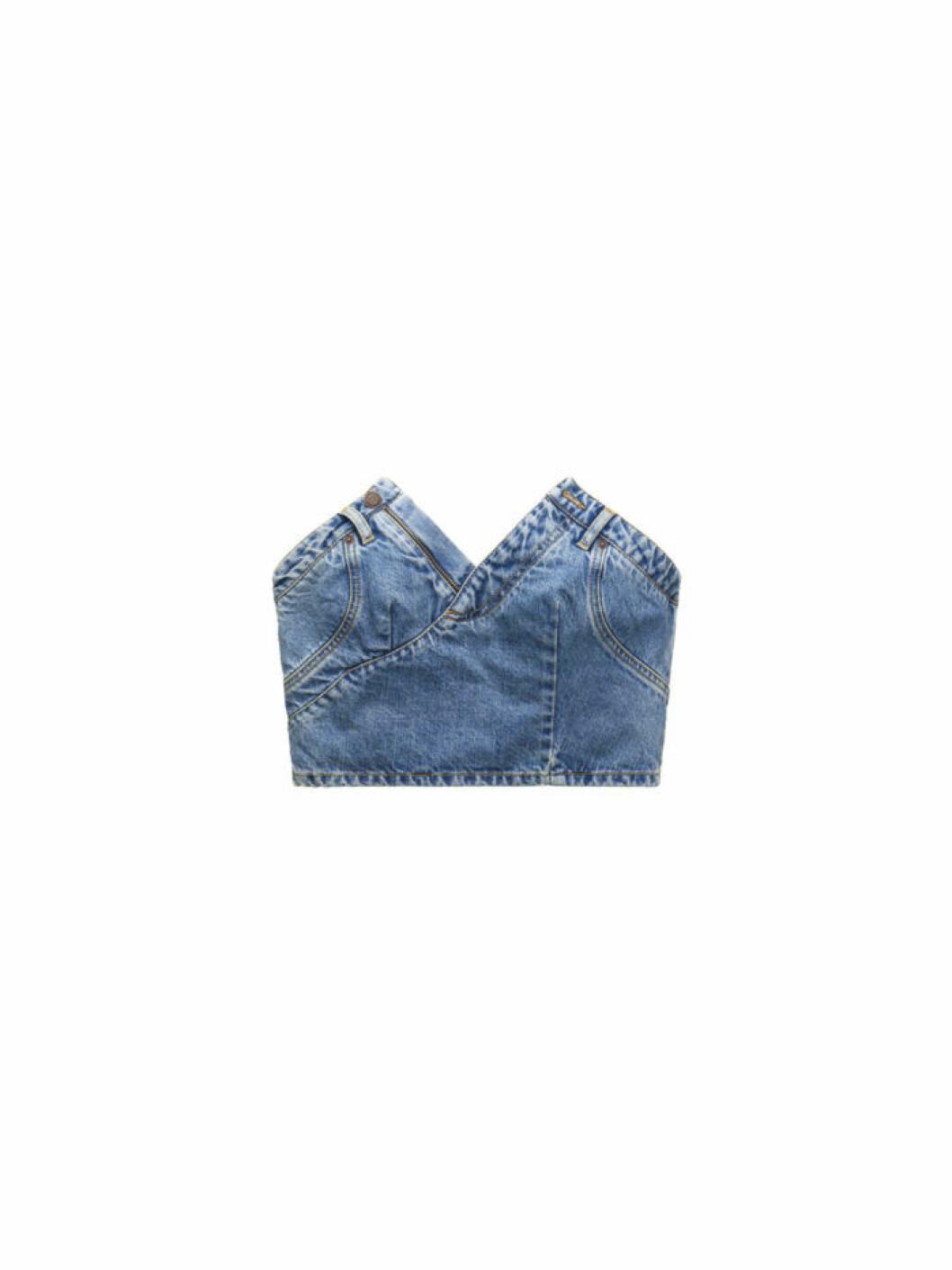 Axelbandslös croptop från Moschino [tv] H&M