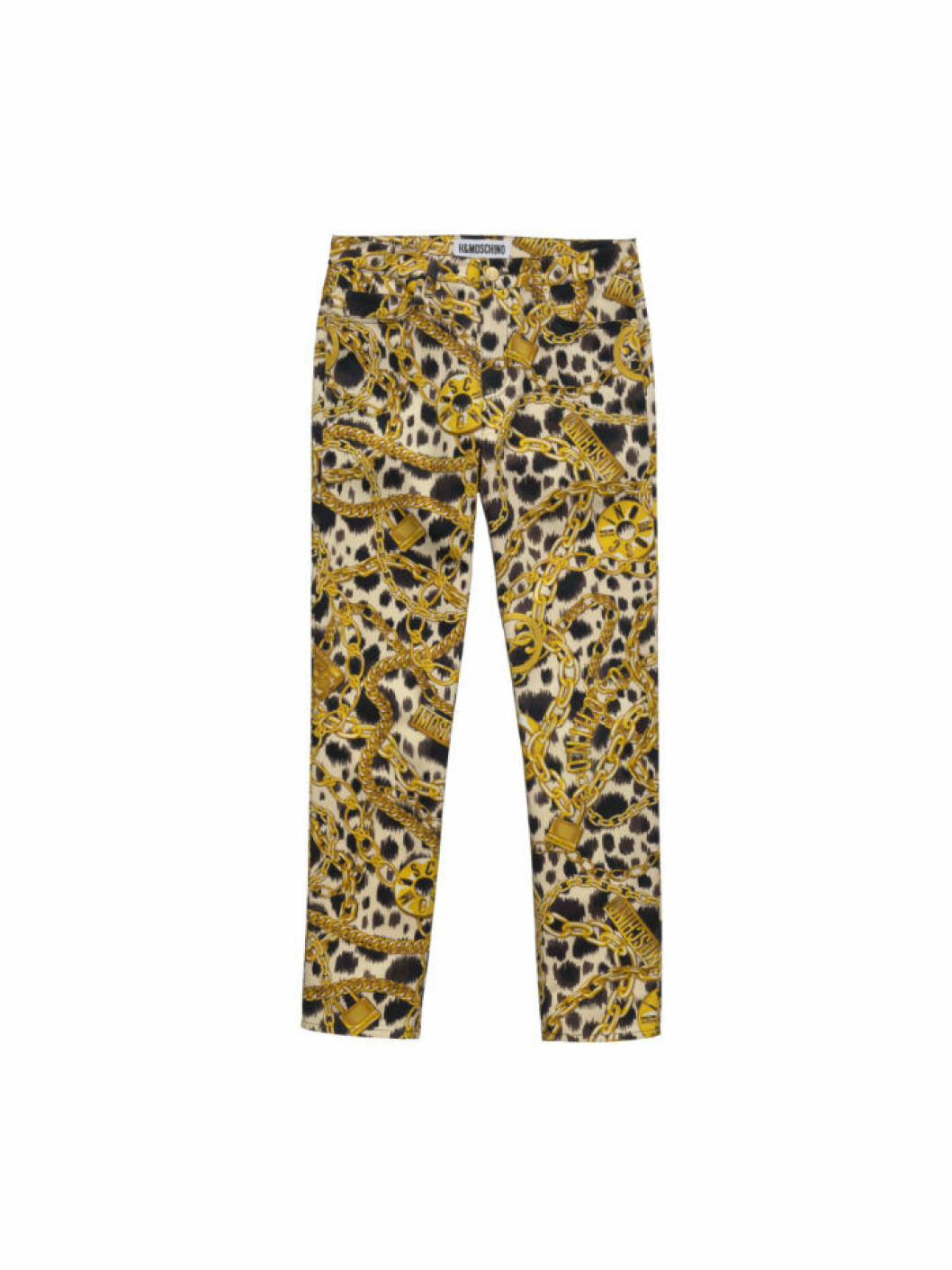 Byxor med leo- och guldkedjeprint Moschino [tv] H&M