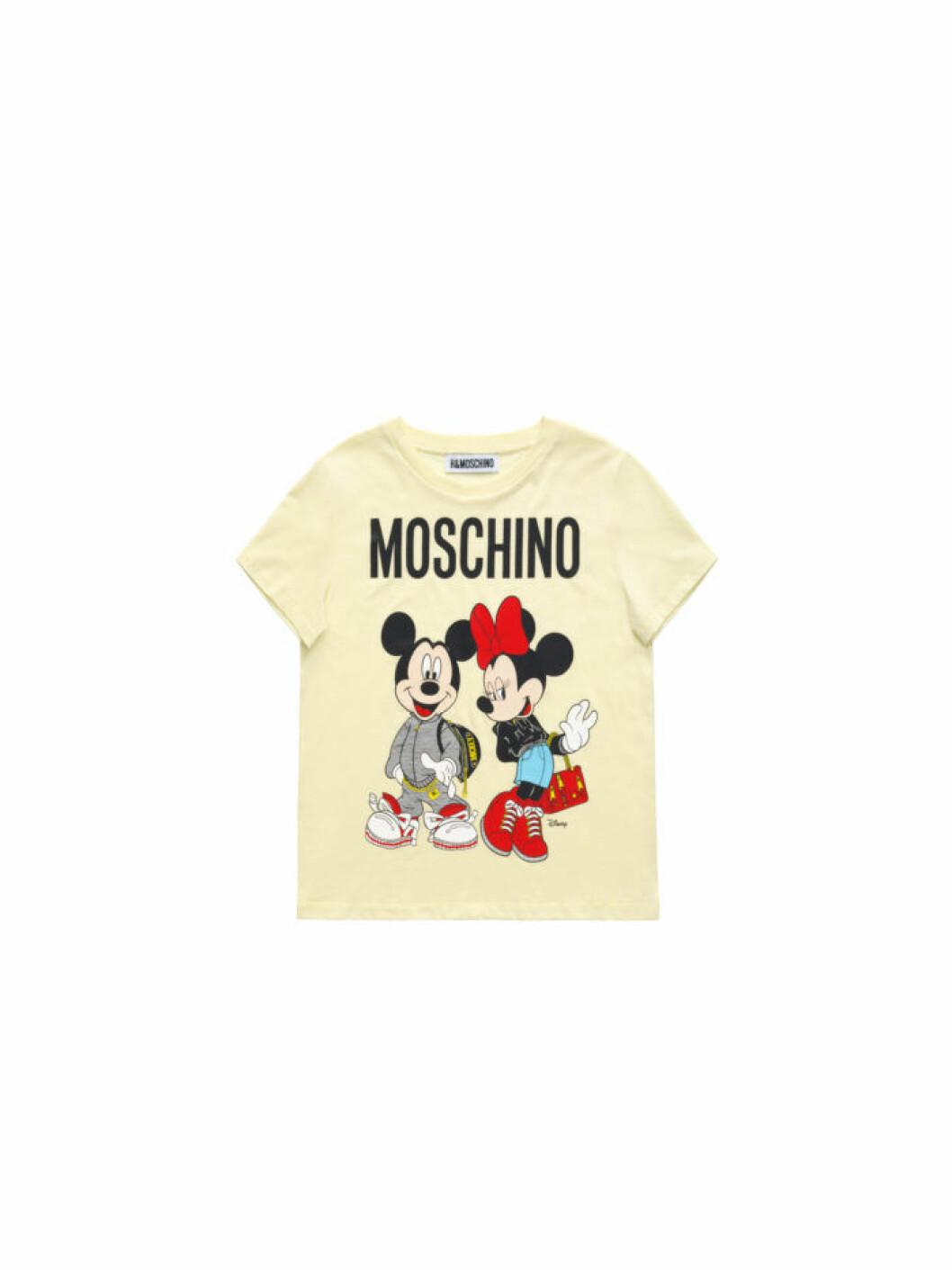 Musse och Mimmi Pigg på en ljusgul t-shirt Moschino [tv] H&M