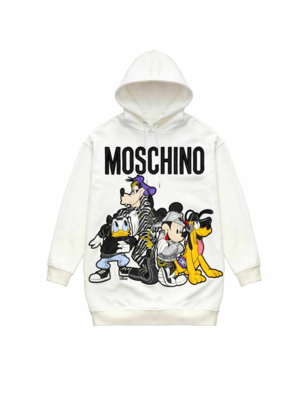 Vit hoodie med Disneyfigurer Moschino [tv] H&M