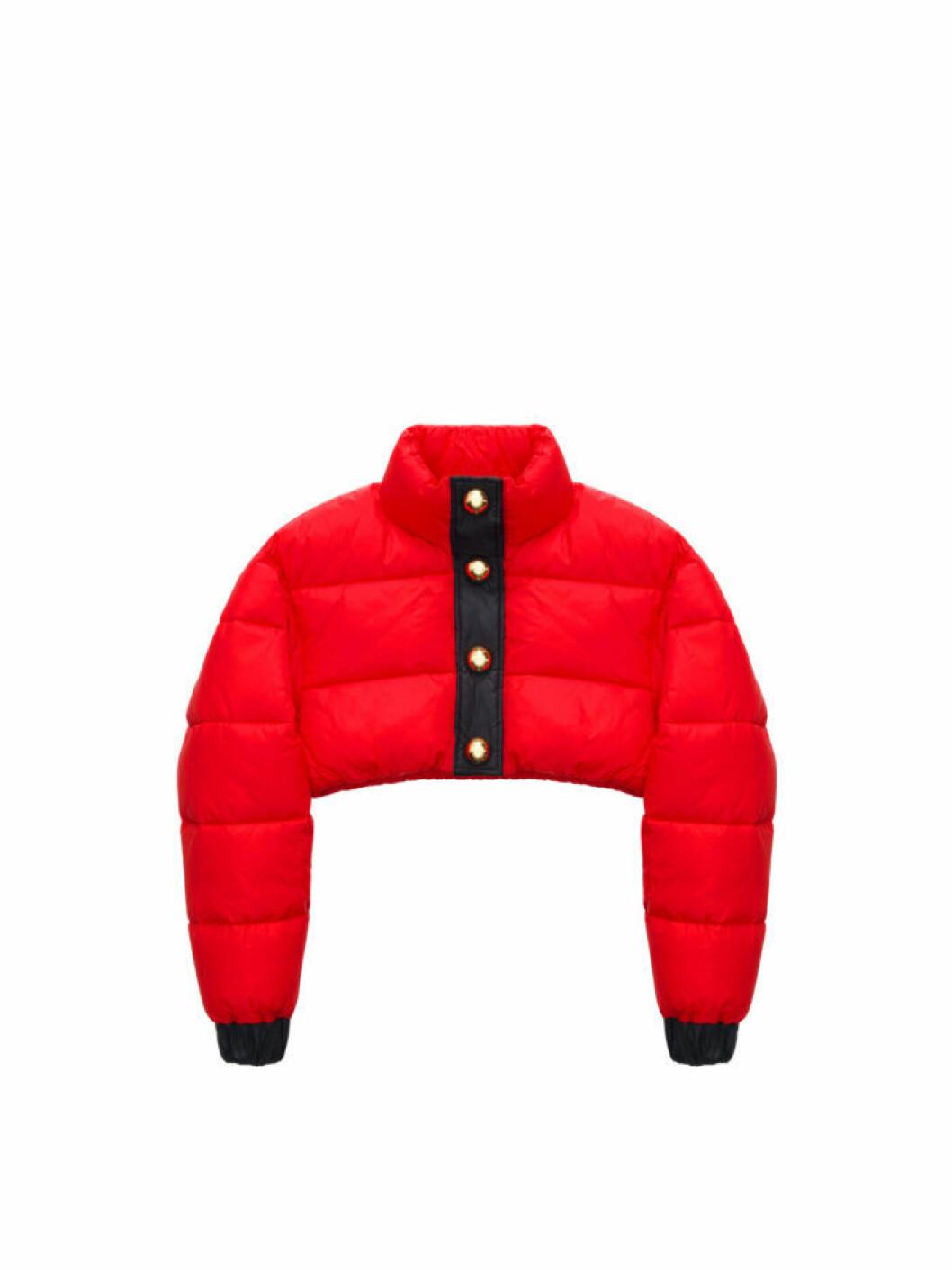 Röd croppad dunjacka Moschino [tv] H&M