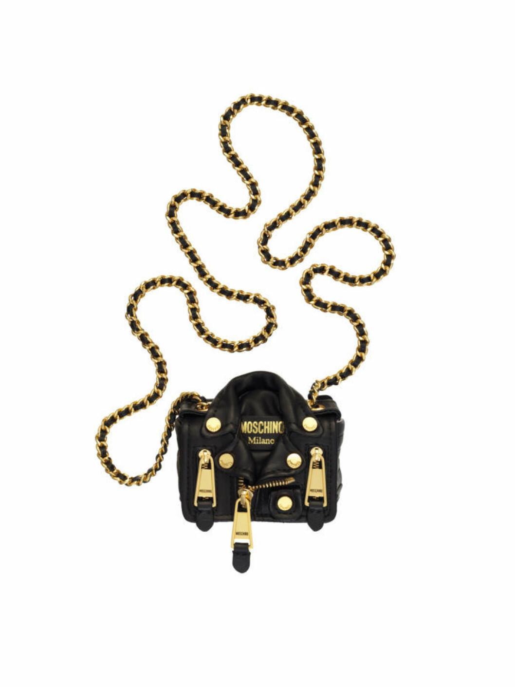Moschinos ikoniska skinnjackeväska i miniatyr Moschino [tv] H&M