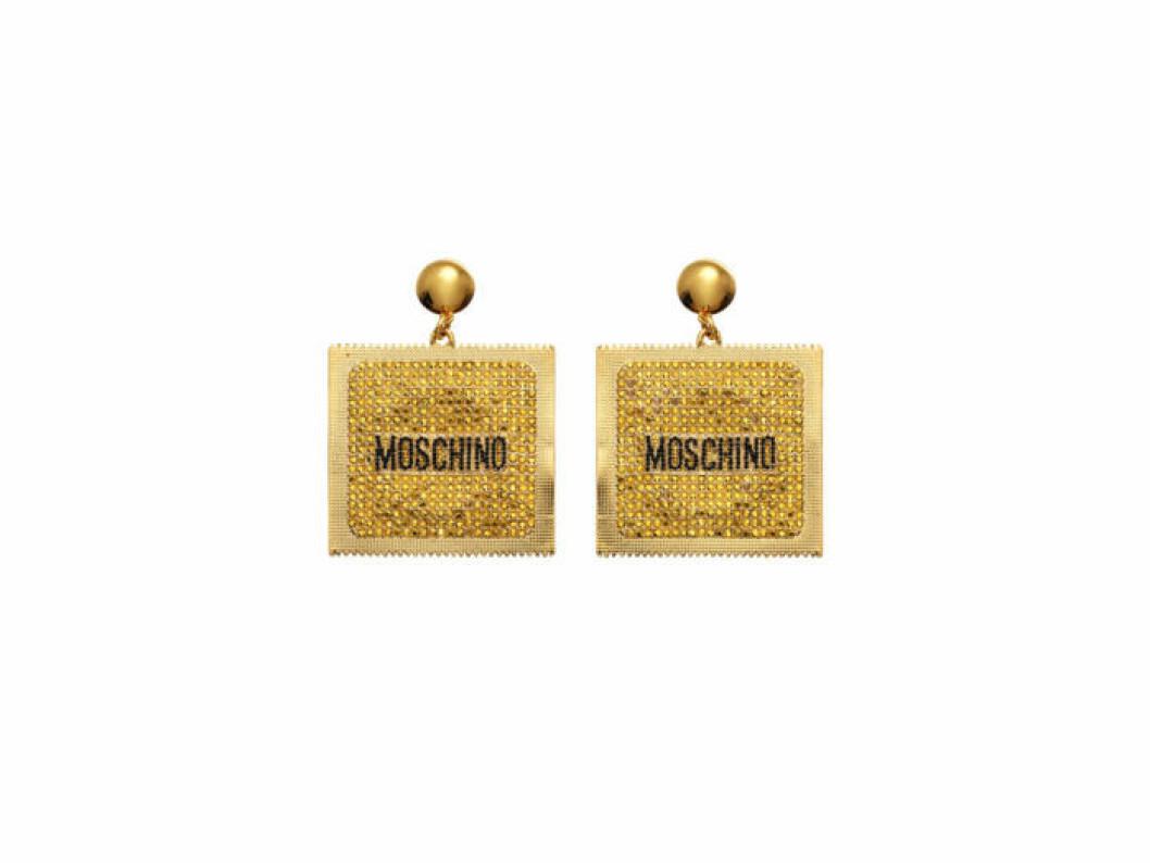 Fyrkantiga örhängen Moschino [tv] H&M