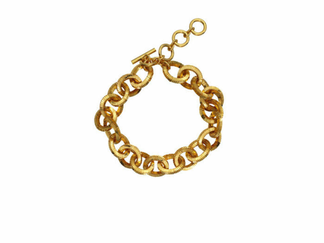 Tjockt guldigt halsband Moschino [tv] H&M