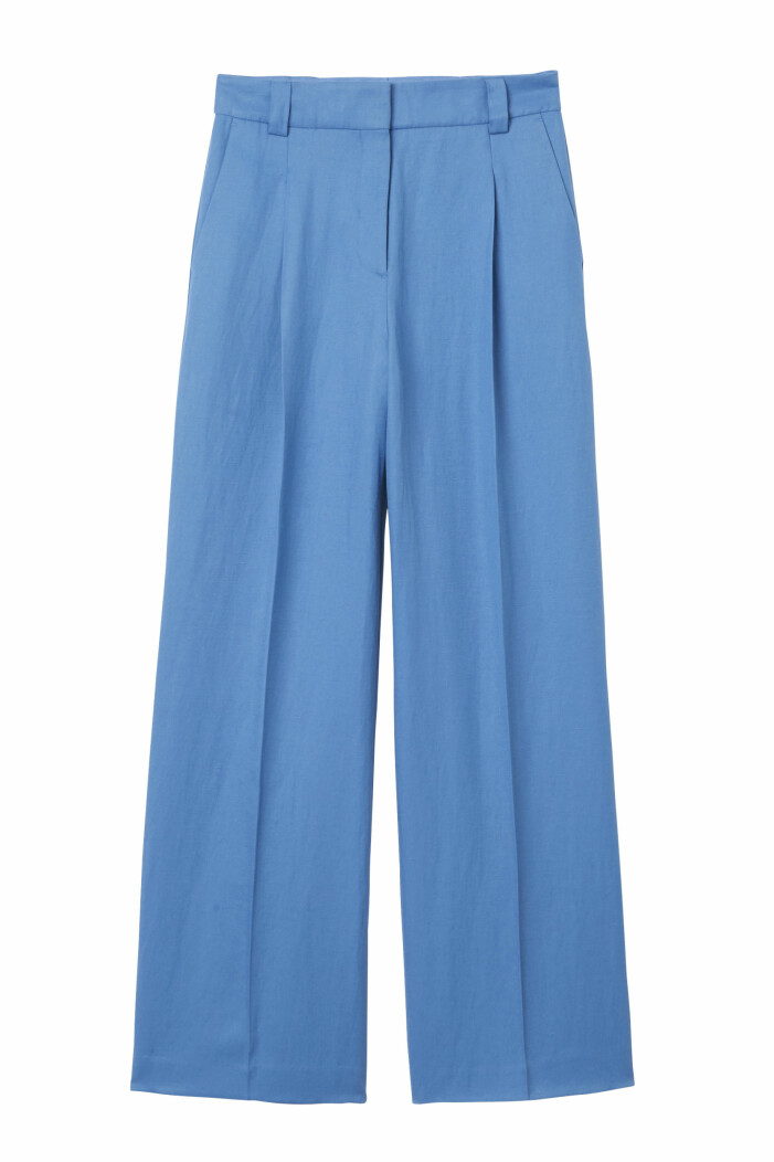 blå kostymbyxor