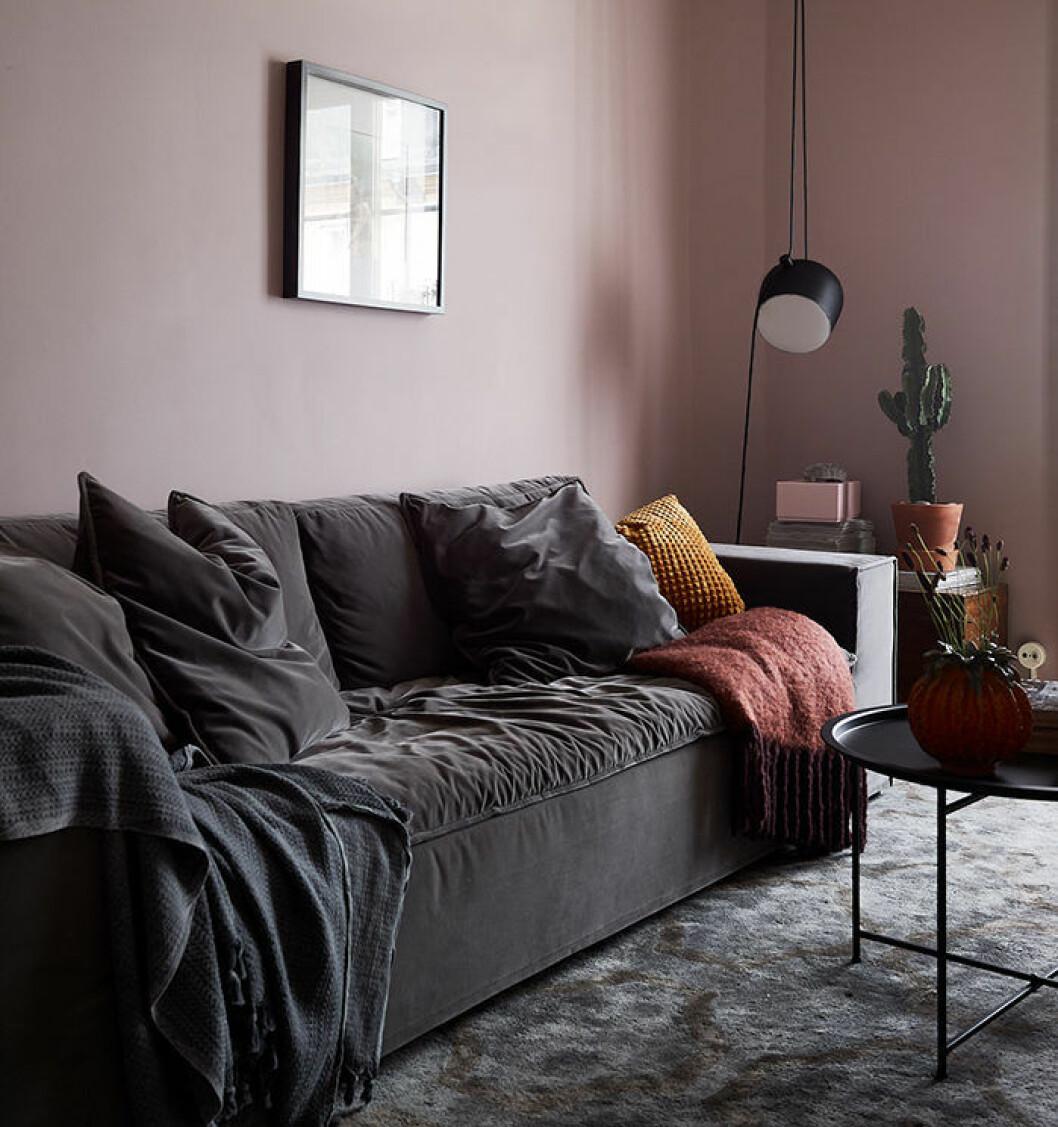 Rosa, rostrött och orange är trendiga färger 2018