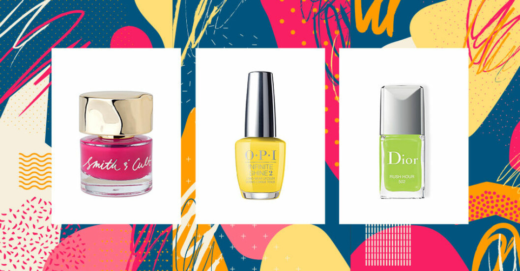 Färgglada nagellack till våren
