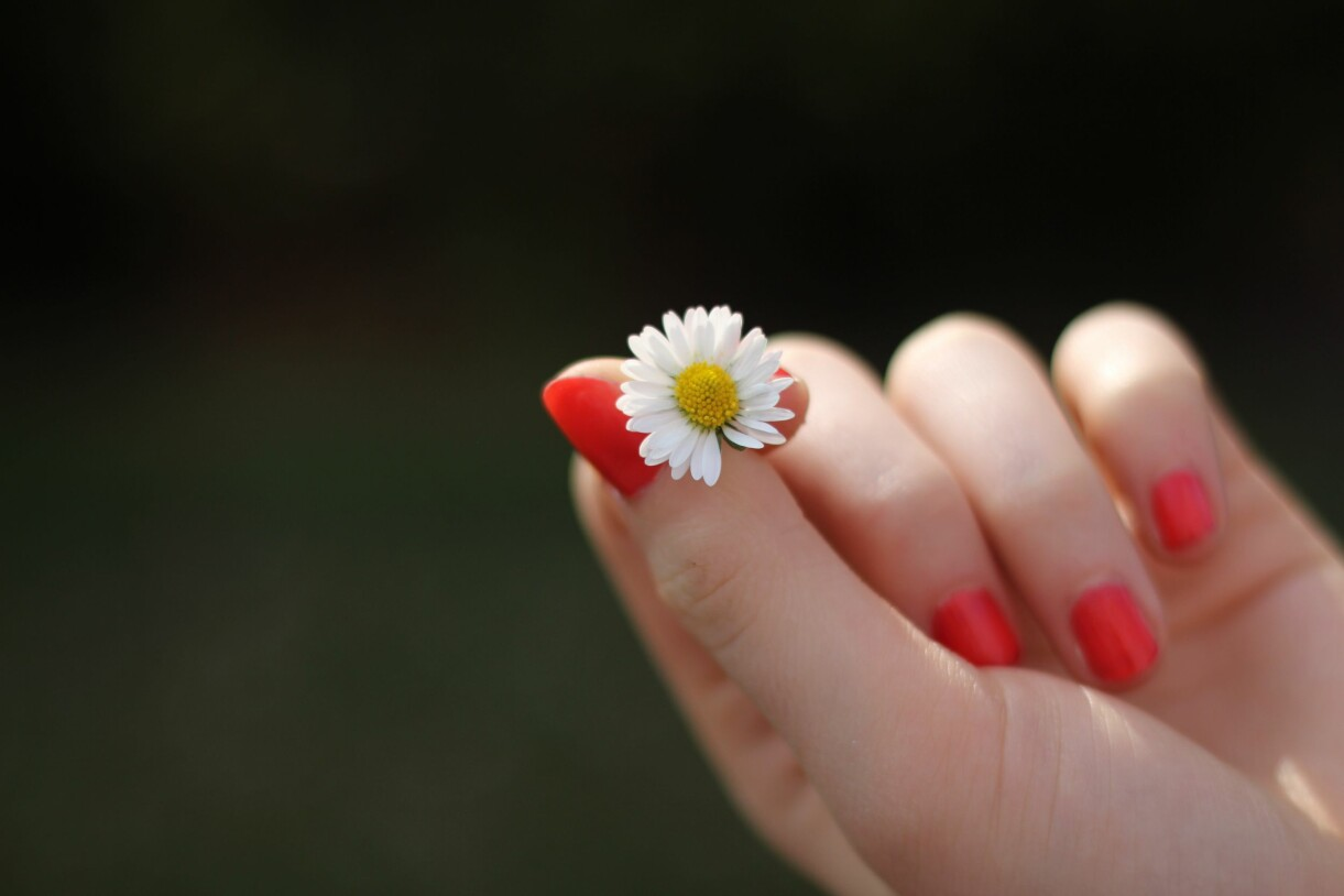 korall lyser upp naglarna