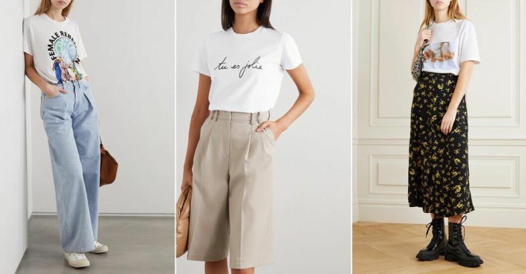 Net-a-porter släpper t-shirtkollektion inför internationella kvinnodagen 2020.