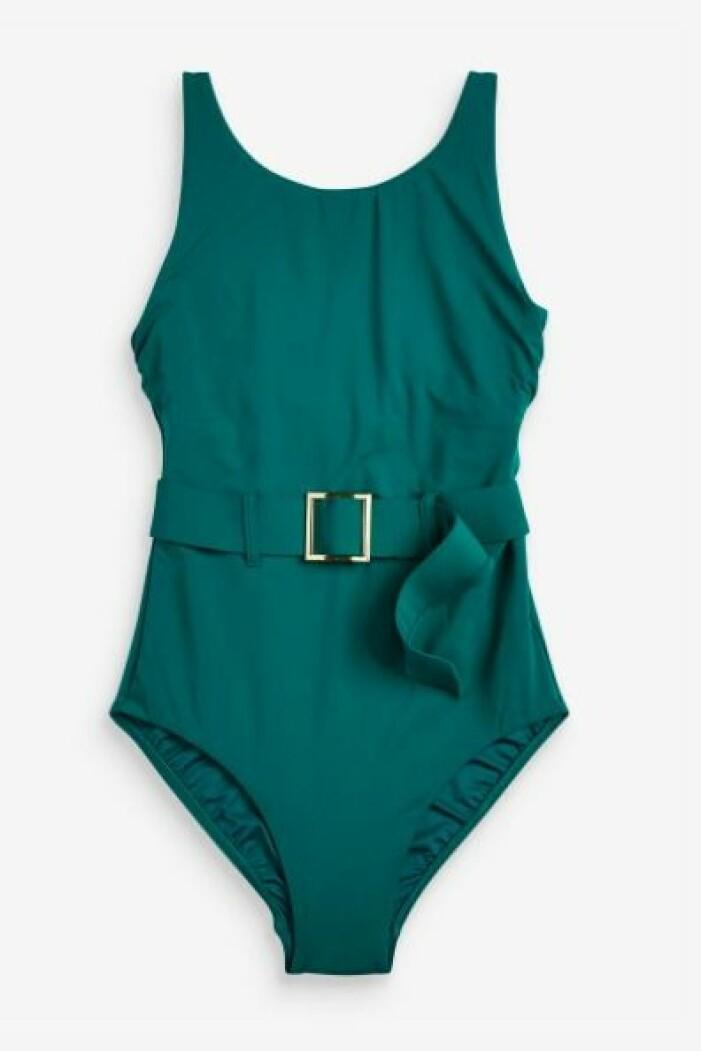 Smaragdgrön baddräkt med skärp i midjan. Baddräkt från Next.