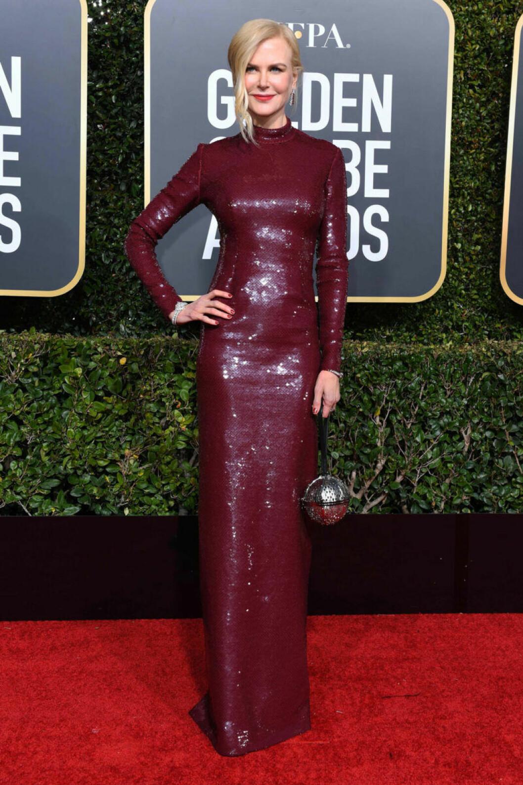 Nicole Kidman på röda mattan på Golden Globe 2019