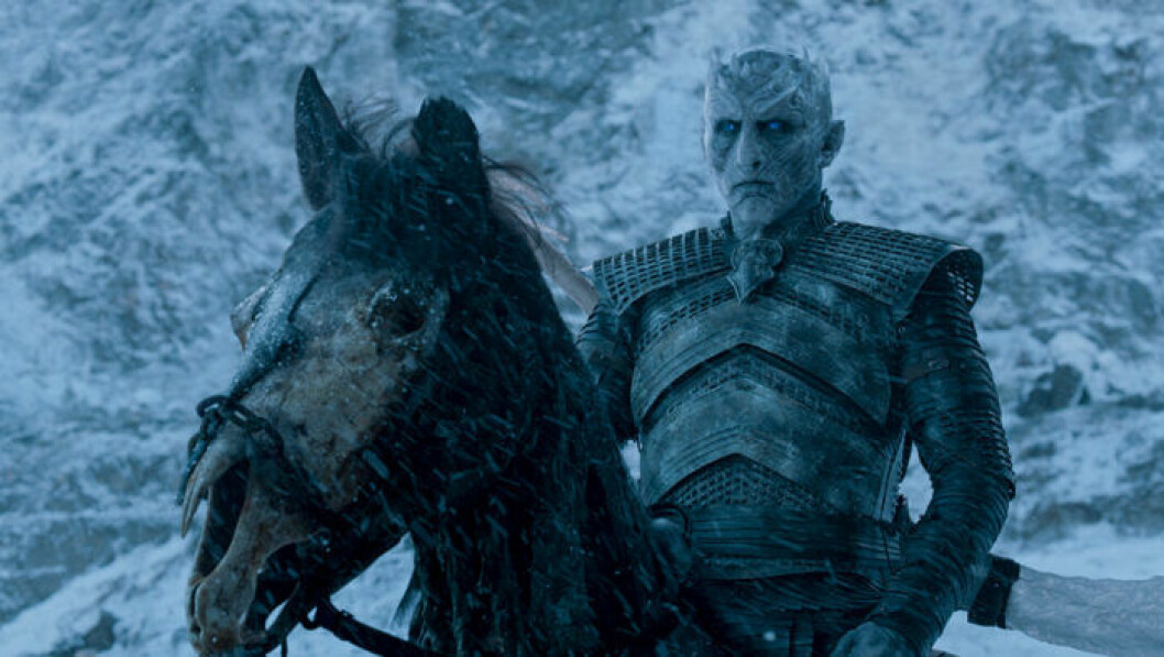 En bild på karaktären Nattkungen från tv-serien Game of Thrones.