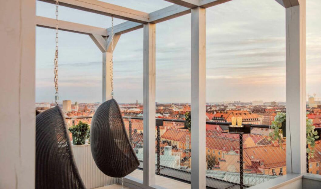 Den nya takbaren Arc på Blique by Nobis bjuder på en spektakulär utsikt över Stockholm.