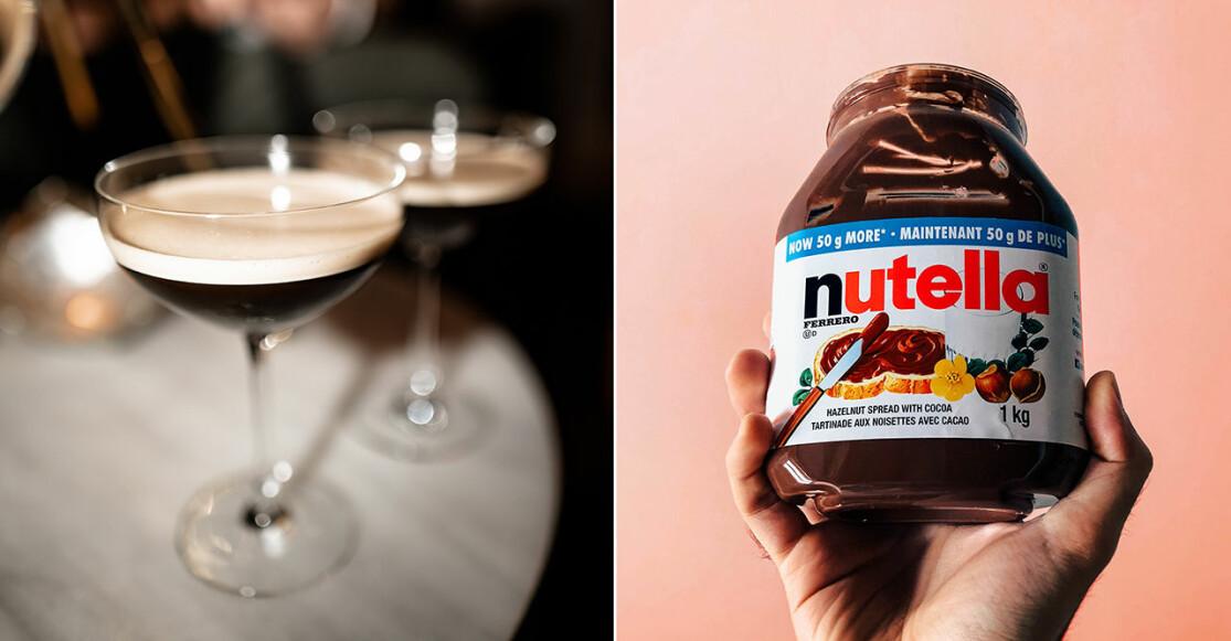 Espresso Martini och en burk Nutella