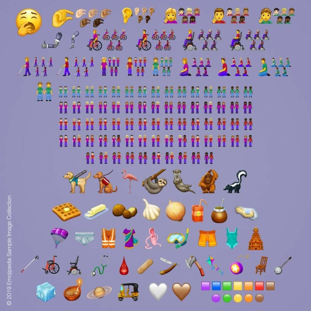 Här är alla nya emojis 2019