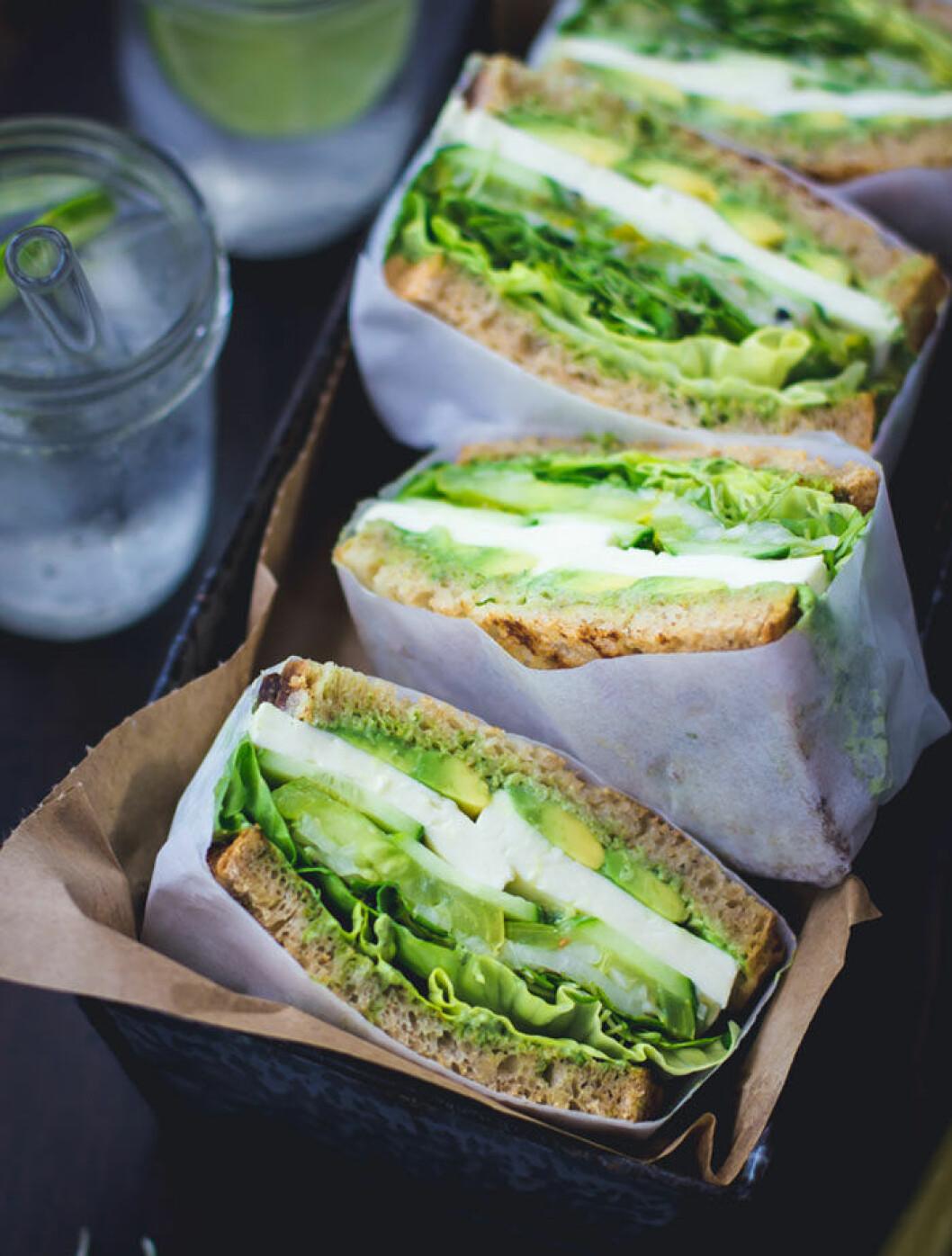 God och nyttig lunchmacka