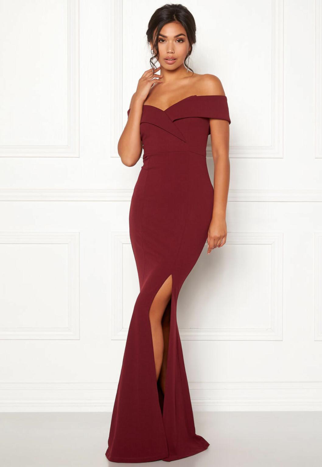 Vinröd maxiklänning