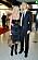 Olinda Borggren och Patrick Larsson på Kristallengalan i svarta matchande kläder