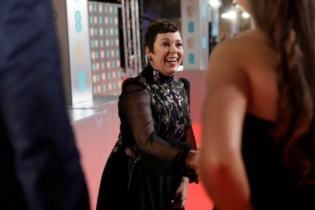 Olivia Colman på Bafta-galan 2020.