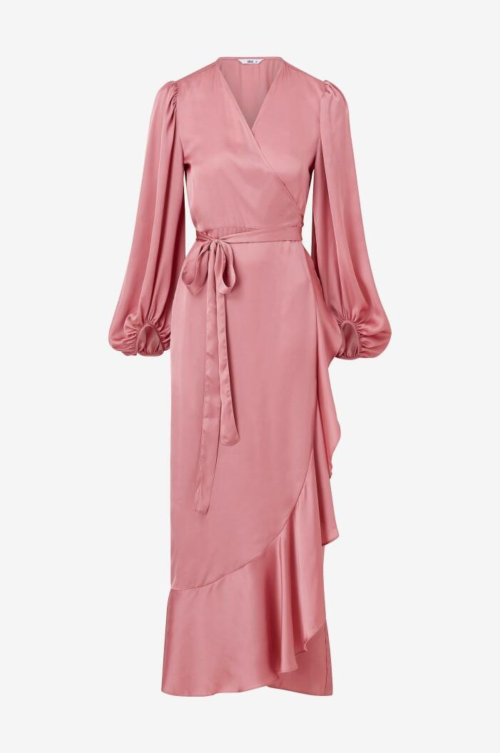 omlottklänning rosa ellos