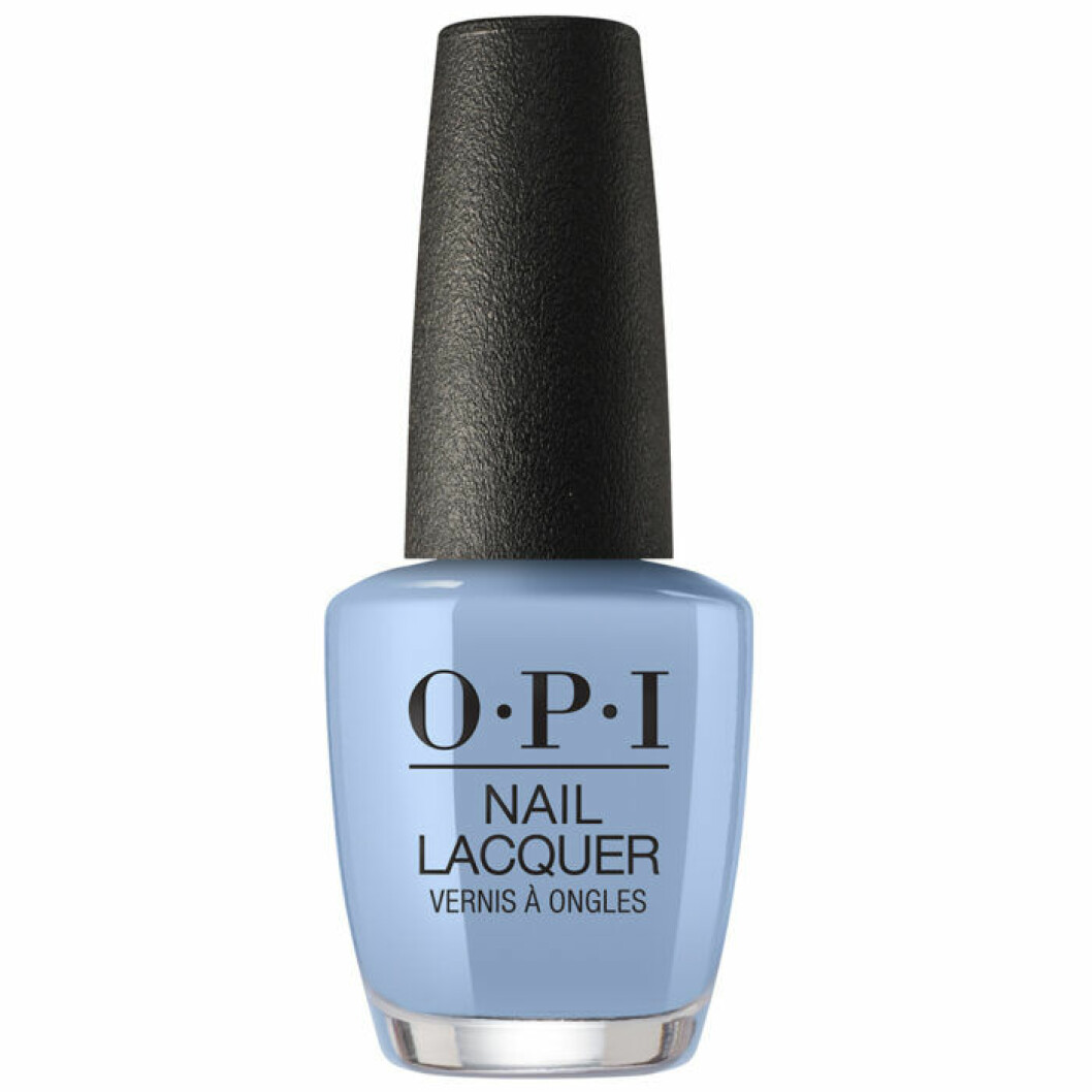 Pastellblått nagellack