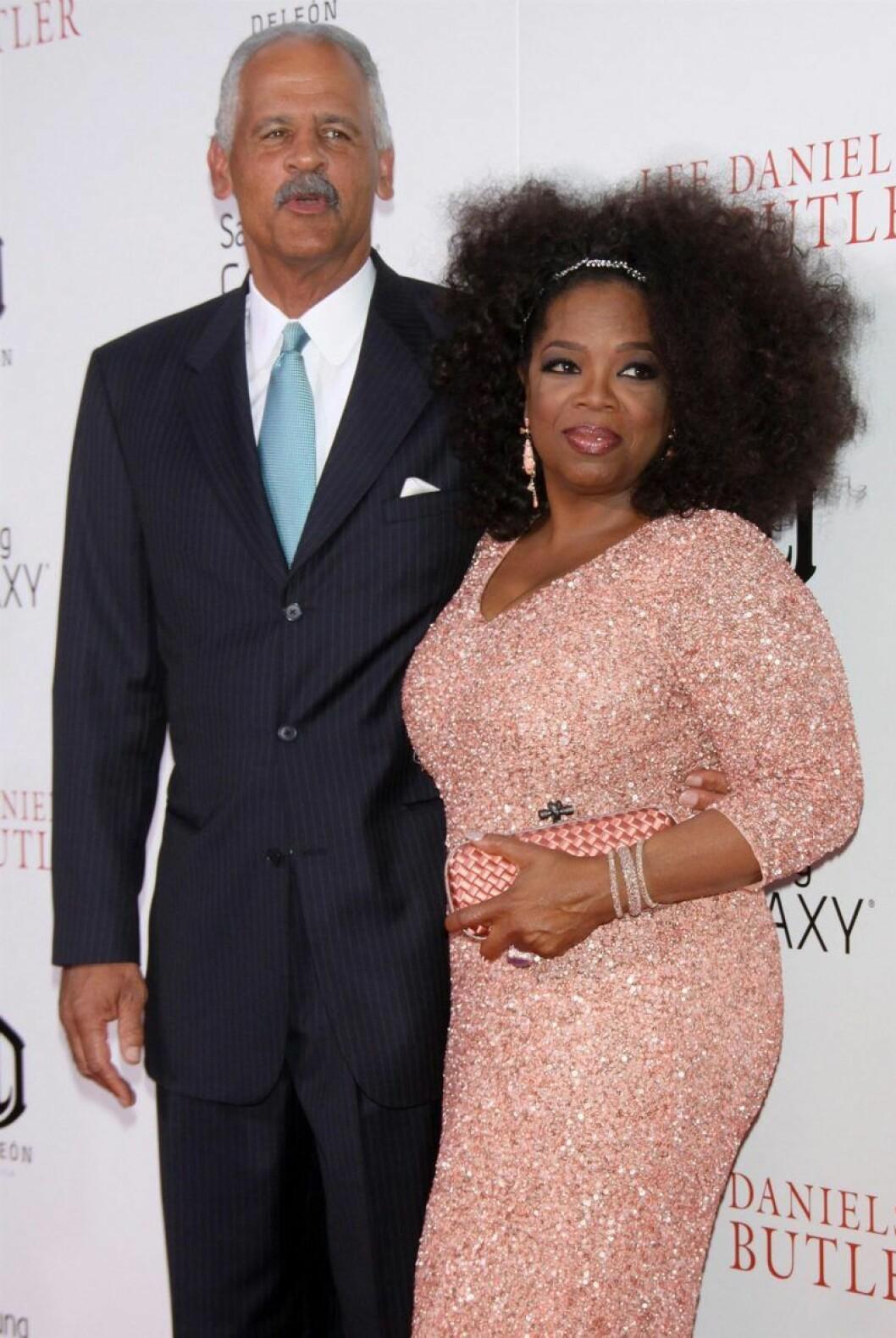 Oprah Winfrey och Stedman Graham på röda mattan