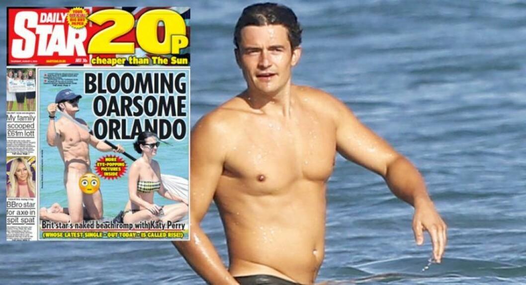 Orlando Bloom paddlar naken tillsammans med Katy Perry