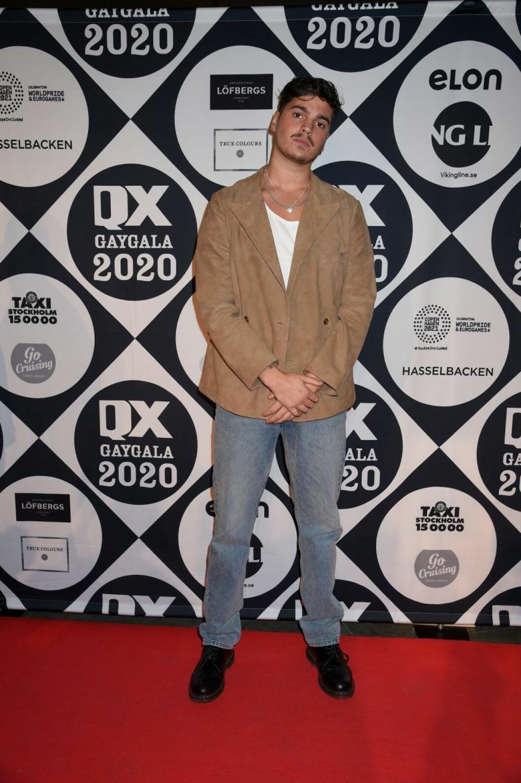Oscar Zia på röda mattan på QX-galan 2020