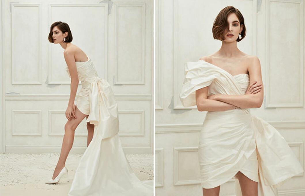 Oscar de la Rentas bröllopskollektion innehåller både långa och korta klänningar