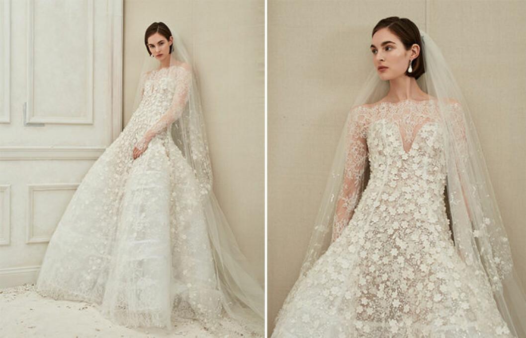 Vacker klänning med lång ärm från Oscar de la Renta