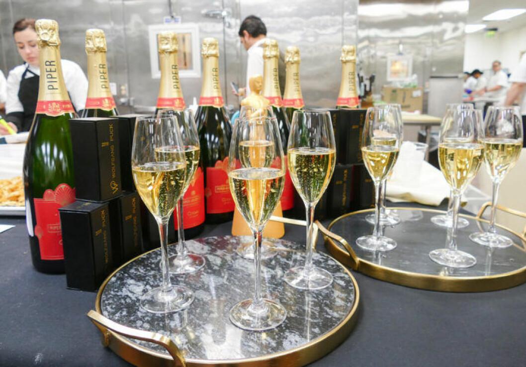 Champagne från Piper-Heidsieck på Oscarsgalan 2019.