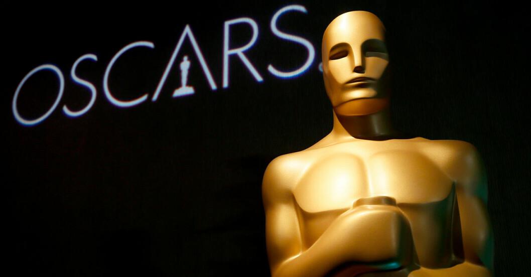 Oscarsstatyetten i guld.