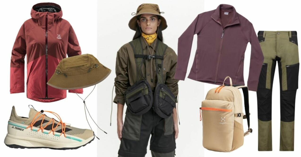 Inspirationskollage om outdoor-trenden. Samtliga produkter beskrivs mer ingående nedan.