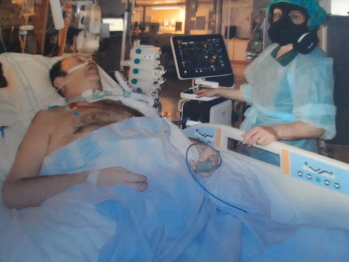 Jörgen Bloom kämpar mot covid-19 på sjukhuset Ryhov i Jönköping.
