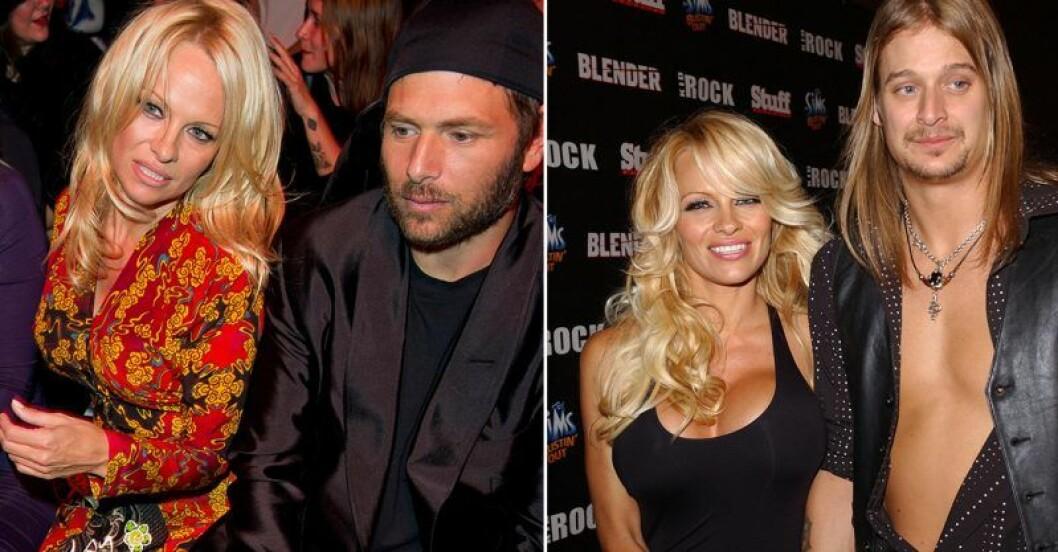 Pamela Anderson med Rick Salomon och Kid Rock