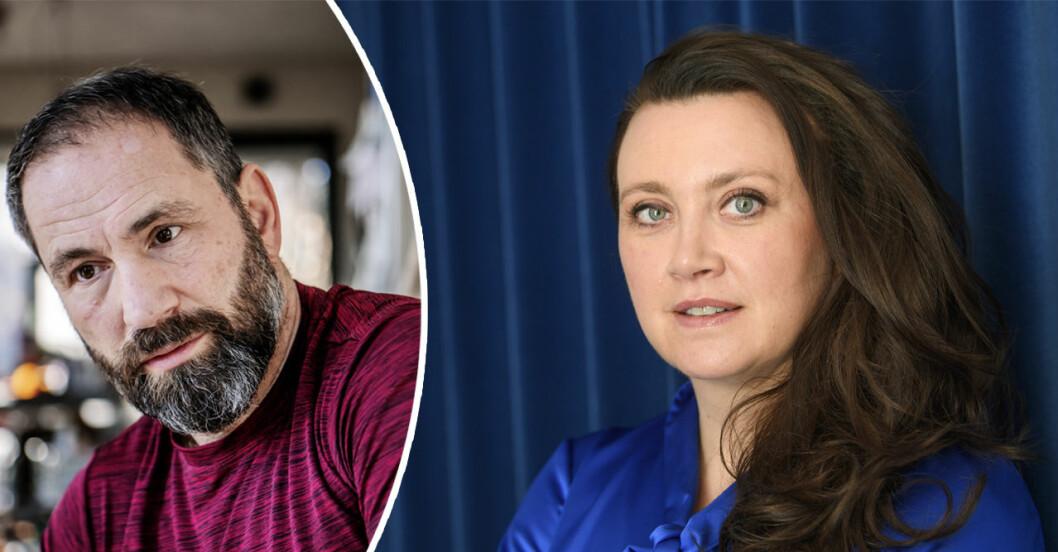 Paolo Roberto får kritik av Camilla Läckberg