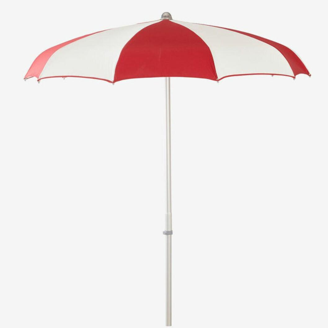 Rödvitt parasoll från Jotex