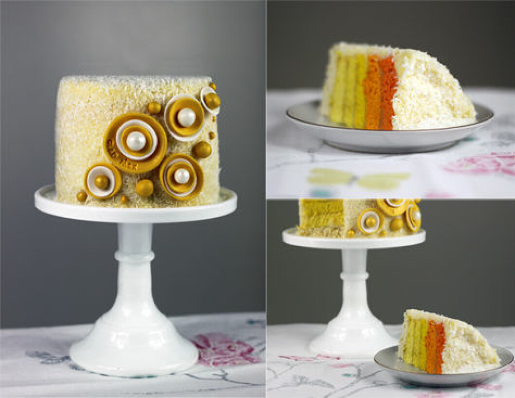 easter cake ombre