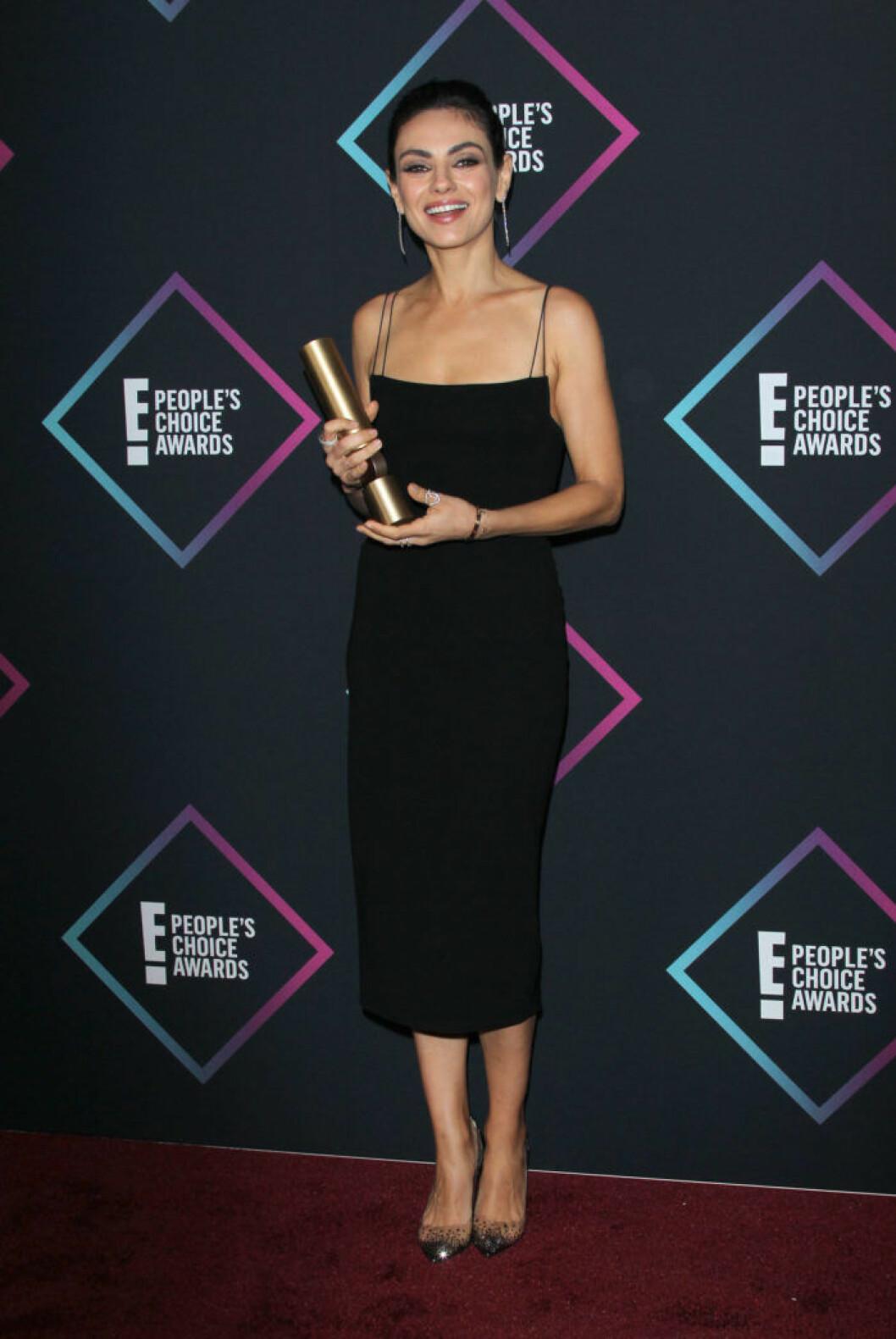 Mila Kunis på People's Choice Awards 2018