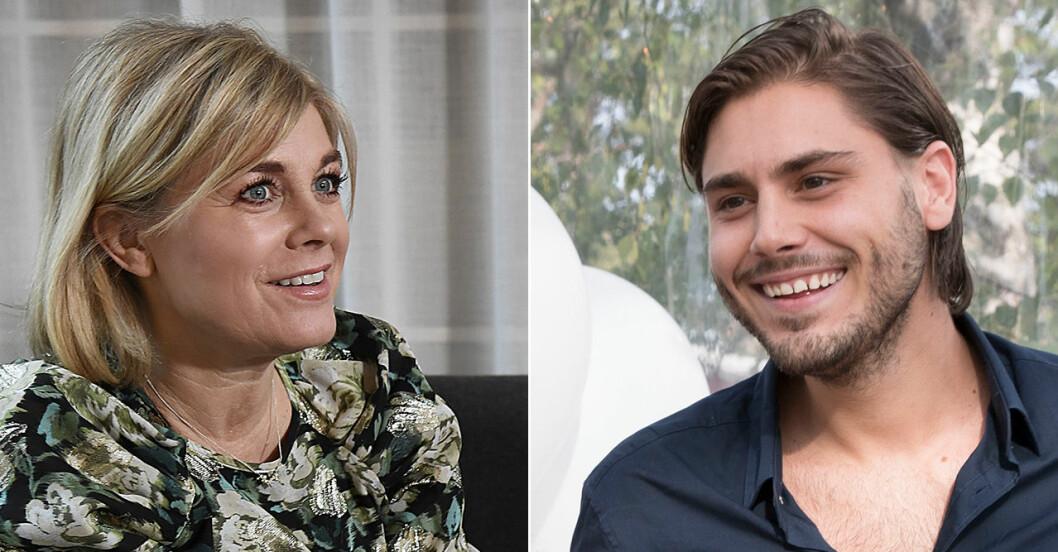 Pernilla Wahlgren och Oliver Wahlgren-Ingrosso