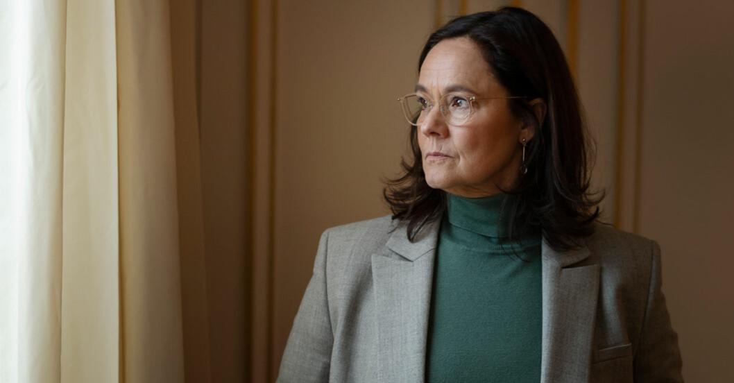 Pernilla August om svårigheten med att spela Britt-Marie i filmen Britt-Marie var här