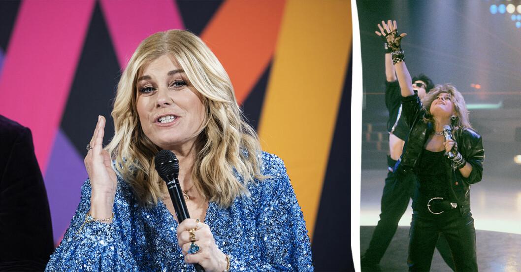 Pernilla Wahlgren uppträder med Piccadilly CircusS