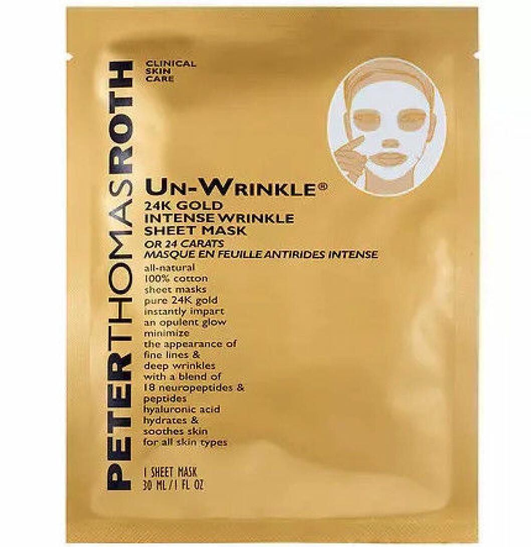 En bild på produkten Peter Thomas Roth – 24K Gold Intense Wrinkle Sheet Masksom går att köpa på Lyko.