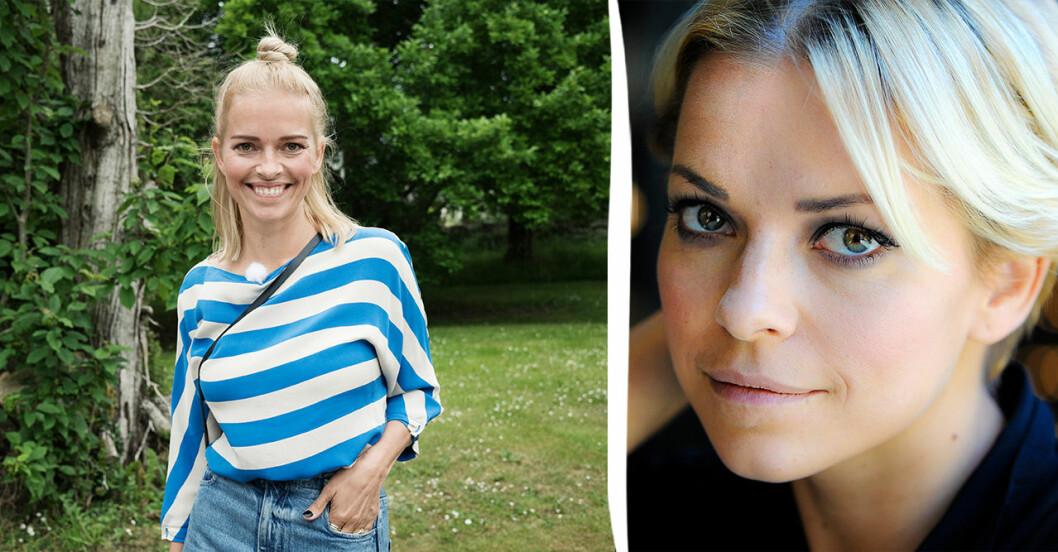Petra Marklund som blond.