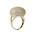 Guldfärgad ring med stor boll med små Cubic zirkoner. ring från Pfg Stockholm.