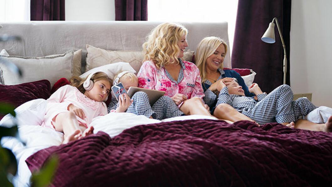 Anja Pärson och Filippa Rådins pyjamaskollektion för hela familjen, designsamarbete Ellos